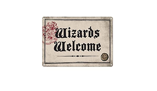 HARRY POTTER WELCOME TO LEAKY CAULDRON A5 STEEL SIGN TIN PICTURE WALL ART PLAQUE