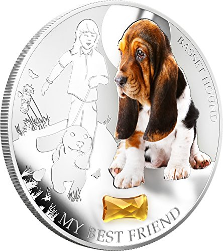 2013-fiji-dogs-cats-release-1-my-best-friend-basset-hound-1oz-silver-coin-2-uncirculated