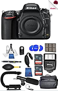 Nikon D750 DSLR Camera (Body Only) Black 1543 (USA) - Full Accessory Video Bundle Package Deal