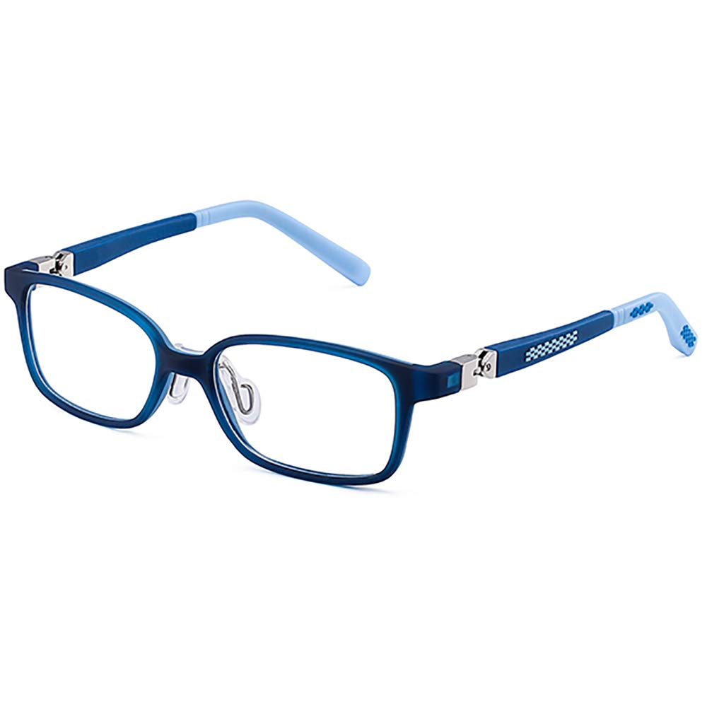 Essential for online classes! 360°Hinges Computer Glasses for Kids Blue Light Blocking Glasses for Kids. Anti-Glare,Anti- UV and Computer/TV/Tablet Radiation Protection Goggles TR90+Slicon Frame