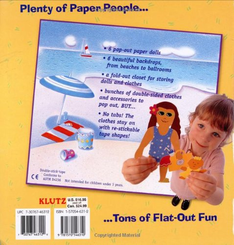 Klutz The Fabulous Book of Paper Dolls: A Book with 6 Paper People and Piles of Perfect Punch-out Clothes