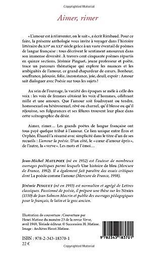Amazoncom Aimer Rimer 150 Poèmes Pour Réinventer Lamour