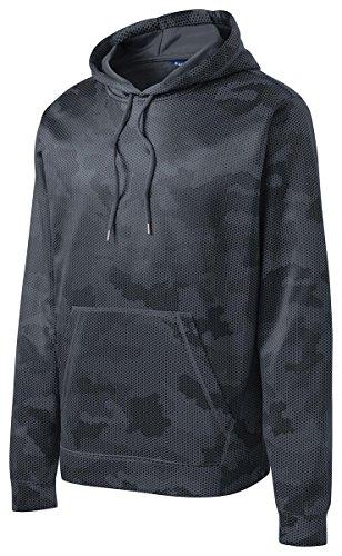 Discount Sport-Tek Men's Sport-Wick CamoHex Fleece Hooded Pullover