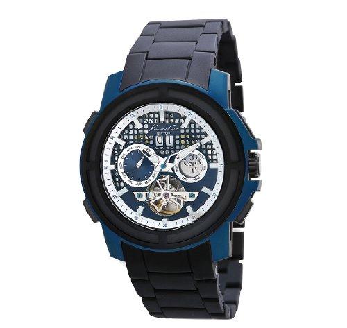 Kenneth Cole New York Men's KC9180 Auto Round Blue Titanium Automatic Watch