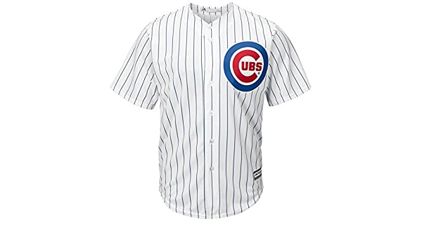 cb230dfd57d2d Majestic Chicago Cubs cool base de rayas Tackle Twill Jersey de béisbol