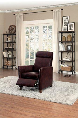 Homelegance Waneta Push Back Track Arm Reclining Club Chair Leather Gel Match, Brown by Homelegance (Image #2)