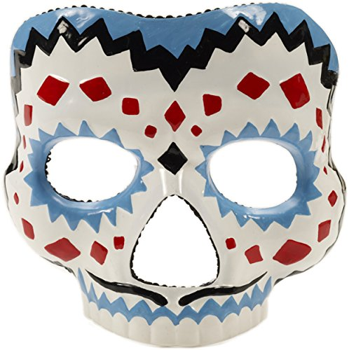 Forum Novelties Men's Day Of The Dead Male Mask, Multi, One (Day Of The Dead Costume Mask)