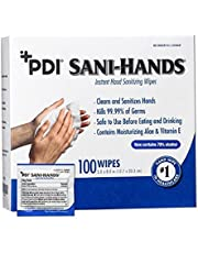 Sani-Hands ALC Antimicrobial Hand Wipes, Individually Wrapped, 10 Boxes of 100 Wipes (1000ct) by PDI