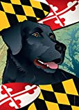 Citizen Pride Maryland Black Lab Large House Flag by Joe Barsin, 28×40 For Sale