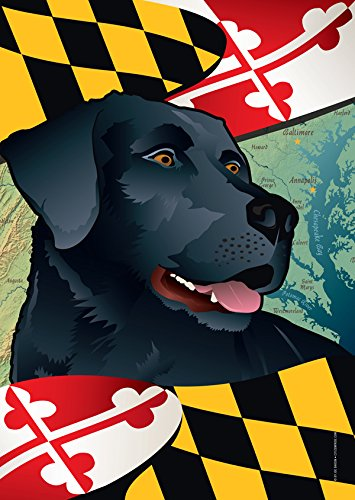 Citizen Pride Maryland Black Lab Large House Flag by Joe Barsin, (Black Lab Flag)