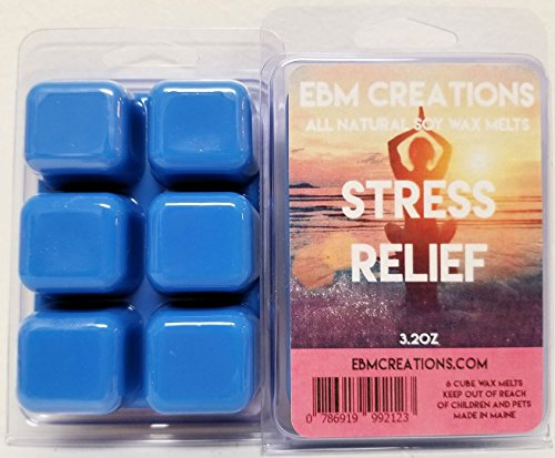 Stress Relief - Scented All Natural Soy Wax Melts - 6 Cube Clamshell 3.2oz Highly Scented!