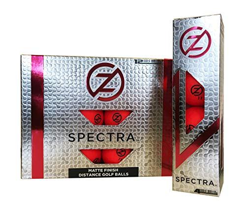 Zero Friction Spectra Golf Balls, Neon Red