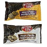 Enjoy Life Semi-Sweet Chocolate Chips Variety Pack (3 Mini Chips, 3 Mega Chunks)
