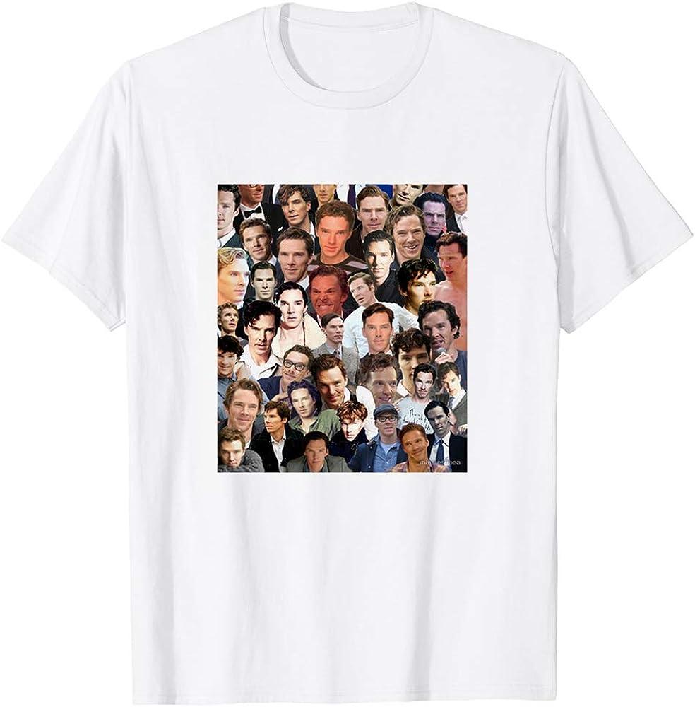 Benedict Cumberbatch Collage Sherlock Holmes The Imitation Game Funny Gift for Men Women Girls Unisex T-Shirt