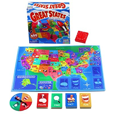 Game Zone Great States Geography Board Game: Toys & Games