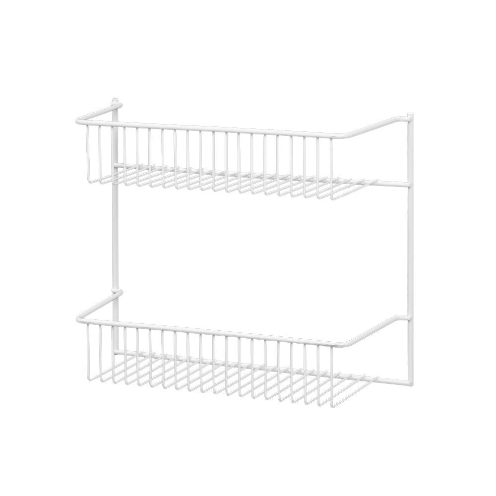 kitchen cabinet closet 2 tier wall mount rack organizer. Black Bedroom Furniture Sets. Home Design Ideas