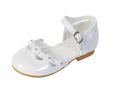 Amazon dressforless flower and rhinestones patent flower girl dressforless flower and rhinestones patent flower girl shoes white 5 mightylinksfo