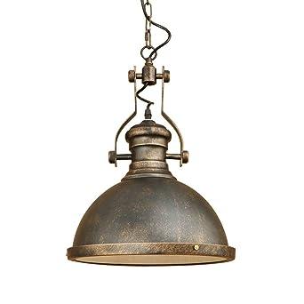 Retro Pendelleuchte Metall Chirm Rund Design Vintage Küche Lampe  Hängeleuchte E27 Eisen Hängelampe Rustikal Wohnzimmer Esszimmer Beleuchtung  Leuchte ...