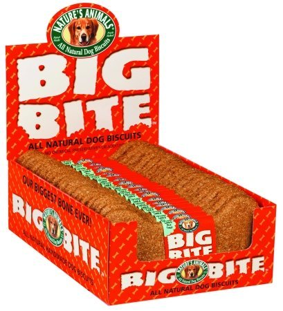 Natures Animals Big Bite Biscuit 8 Inch-24 Pack Cheddar Chee