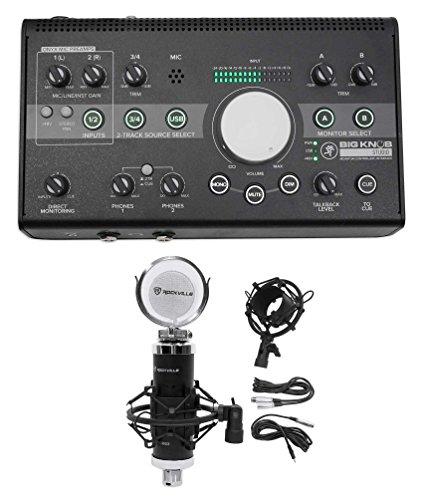 New Mackie Big Knob Studio 3x2 Monitor Controller 96kHz USB I/O+Condenser Mic