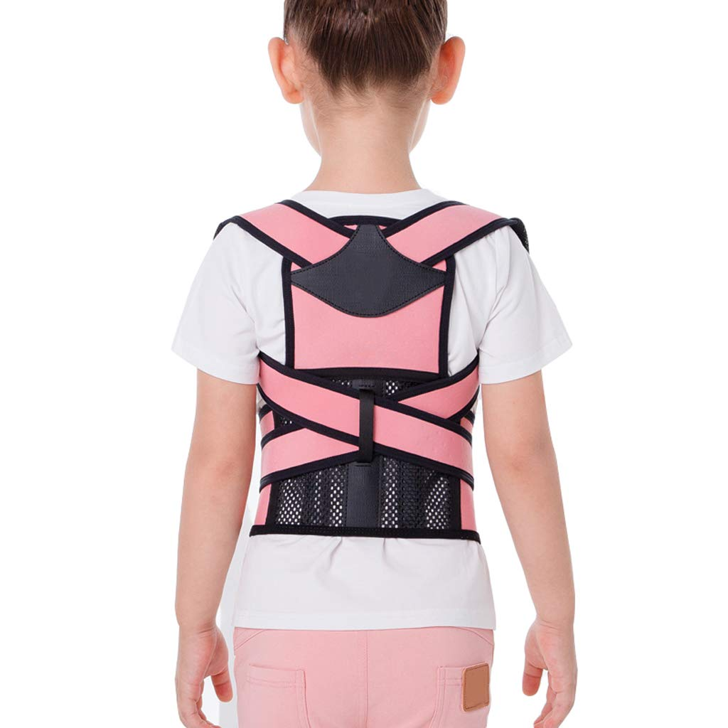 Back correction belt ZHAOSHUNLI Children's Spine Correction Anti-Humpback Temperament Protection Vision (Color : Pink, Size : L) by Back correction belt (Image #1)