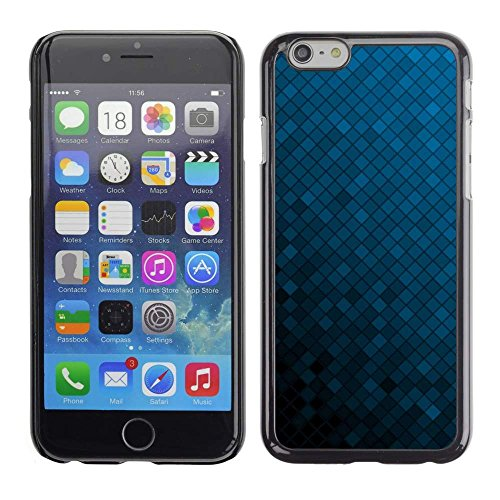 GRECELL CITY GIFT PHONE CASE /// Cellphone Protective Case Hard PC Slim Shell Cover Case for Apple Iphone 6 Plus 5.5 /// Texture Blue Cubes (Hot Irons Combo)