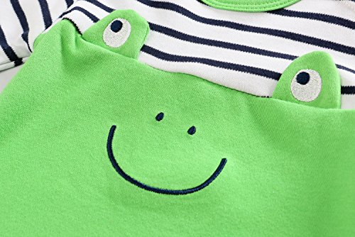 Baby Boys Girls Long Sleeve Romper Frog Jumpsuit Playsuit Outfits 100% Cotton Sleep Suit Unisex Baby Gifts for infants and babies Baby Outfit Baby Nursery– Kiddy Bird