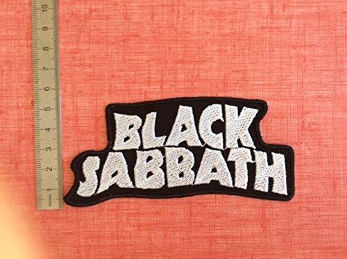 """Toppa termoadesiva, con scritta """"Black Sabbath 2"""" con scritta Black Sabbath 2 BLUE HAWAI"""