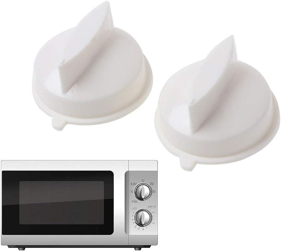 Yuaierchen 2 perillas de control universal para microondas, horno, temporizador, interruptor de control de plástico