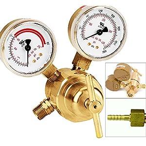 Victor Type Rear Mount Acetylene Gas Welding Welder Regulator Pressure Gauge