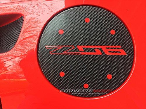 (C7 Corvette Stingray/Z06/Grand Sport Vinyl Gas Door Overlay - Solid Colors/Carbon Fiber Matte Carbon Fiber Textured Stingray)
