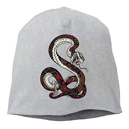 AUUOCC Headscarf Coloured Snake Hip-Hop Knitted Hat for Mens Womens Fashion Beanie Cap (Wool Nike Beanie)