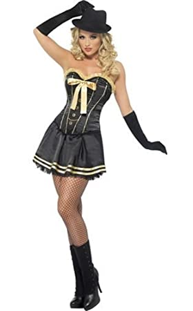 Ladies Sexy 1920s Corset Tutu Gangster Moll Hen Do Fancy Dress Costume Outfit UK 8-  sc 1 st  Amazon UK & Ladies Sexy 1920s Corset Tutu Gangster Moll Hen Do Fancy Dress ...