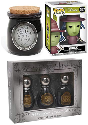 Frog's Breath Nightmare Before Christmas Pop! NBC Witch Shock Vinyl #407 Bundled with + Sally's Nightshade & Worms Wart Fragrance / Deadly Bathsalt 3 Items