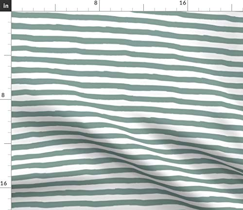 - Spoonflower Green Stripes Fabric - 8