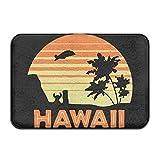 Youbah-01 Indoor/Outdoor Door Mats With Hawaii Printed For Patio Or Entryway