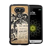 Alice in Wonderland LG G5 Case, Onelee [Never fade] Disney Alice in Wonderland We're all mad here Cheshire Cat LG G5 Black TPU and PC Case [Scratch proof]