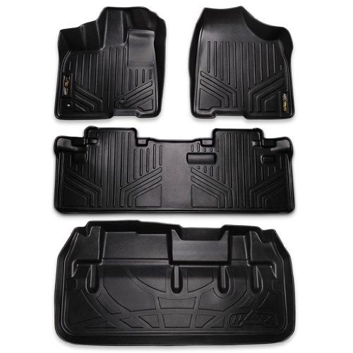 Price comparison product image Maxliner MAXFLOORMAT Floor Mats (2 Row Set) and MAXTRAY Cargo Liner Behind 3rd Row Toyota SIENNA 8 Passenger (2013-2016)
