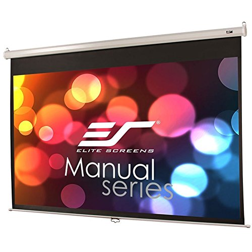 180 Pull - Elite Screens Manual Series, 150-INCH 16:9, Pull Down Manual Projector Screen with AUTO LOCK, Movie Home Theater 8K / 4K Ultra HD 3D Ready, 2-YEAR WARRANTY, M150XWH2