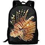 Lion Fish Adult Travel Backpack School Casual Daypack Oxford Outdoor Laptop Bag College Computer Shoulder Bags