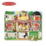 Melissa & Doug Hide & Seek Farm (Developmental Toys, Magnetic Puzzle Board, Sturdy Wooden Construction, 9 Pieces, 12' H x 9.4' W x 0.9' L)