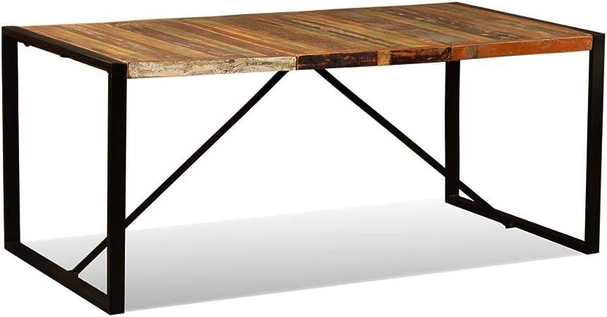 Tidyard Table A Manger En Bois Table De Salon Table De Salle A