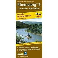 Rheinsteig® 2, Lahnstein - Wiesbaden: Leporello Wanderkarte mit Ausflugszielen, Einkehr- & Freizeittipps, Straßennamen, wetterfest, reissfest, ... 1:25000 (Leporello Wanderkarte / LEP-WK)