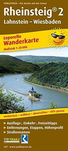 Rheinsteig 2 467 Leporello Hiking Map Gp