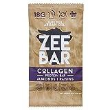 ZEEBAR Collagen Protein Bar, Almond Raisin Flavor, Paleo Friendly, 14g Collagen – 18g Protein, Made With Argan Oil, 1.98oz – 56g (Pack of 8) Review