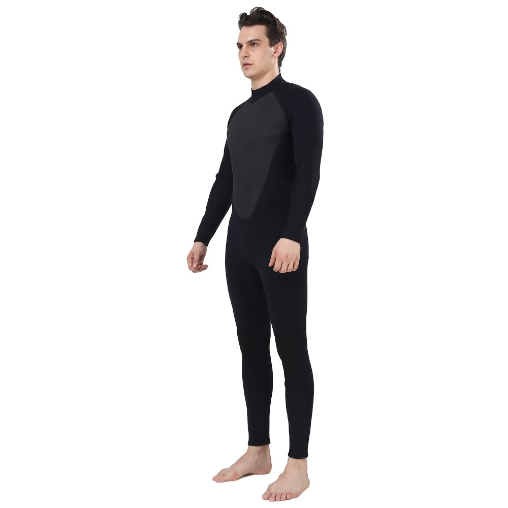 Realon Wetsuit Men Full 2/3mm Surfing Suit Diving Snorkeling Swimming Jumpsuit (2/3mm Black, 3XL) by Realon (Image #5)