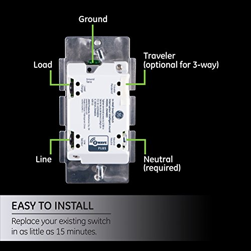 Ge White Enbrighten Z Wave Plus Smart Light Switch Works
