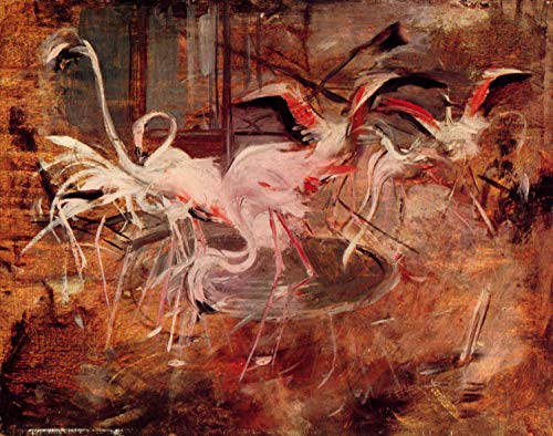 (Home Comforts Peel-n-Stick Poster of Boldini, Giovanni - Flamingos in The Palais Rose in Vésinet Vivid Imagery Poster 24 x 16 Adhesive Sticker Poster)