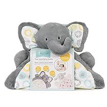 Baby's First by Nemcor Tummy Time Play Mat with Bonus Milestone Stickers-Elephant