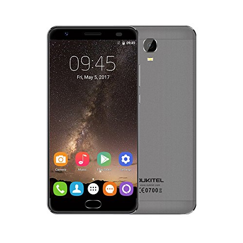 OUKITEL K6000 Plus Android 7.0 Smartphone 5,5 Zoll FHD 4G FDD-LTE Ohne Vertrag Octa Core 4GB RAM+64GB ROM 8MP+16MP Dualkameras Fingerprintscanner 6080mAh Quick Charge Reverse Charging Dual SIM